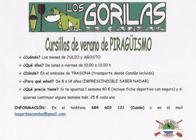 Cursos de Iniciación al Piragüismo en el Club Los Gorilas de Candás.