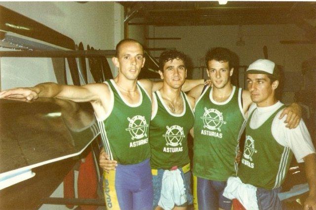 Carlos M. Prendes, Toni Mallo, Eduardo Prendes y José Carlos Díez.