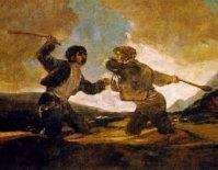 Duelo a garrotazos. Francisco de Goya