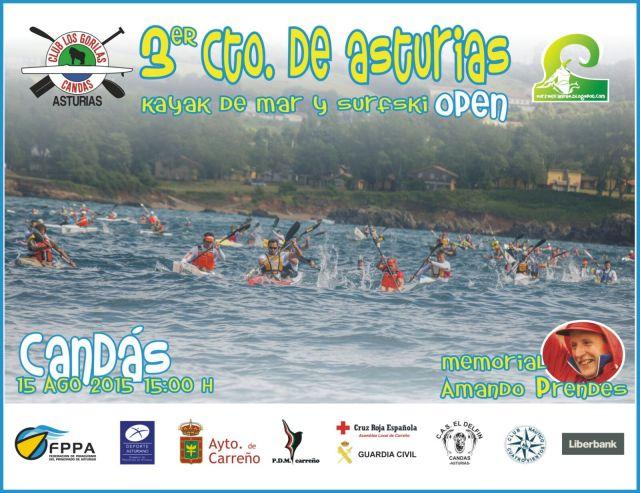 III Cto. de Asturias de Surfski. 15-08-2015